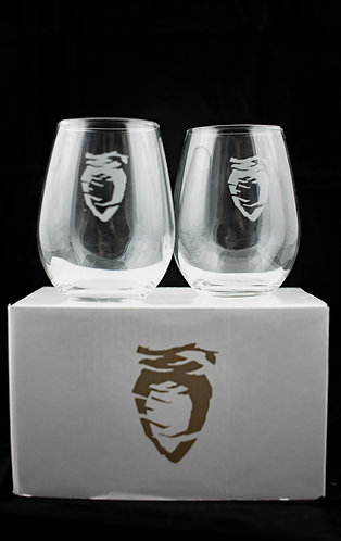 12oz. Stemless wine gift set