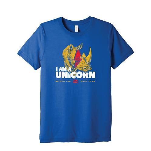 """The Corner """"I Am A Unicorn"""" Blue T-Shirt"""