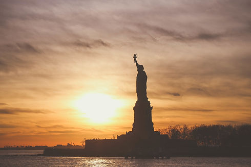 Canva - Silhouette of Statue of Liberty.
