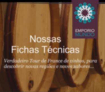 Fichas Técnicas dos nossos vinhos Françeses