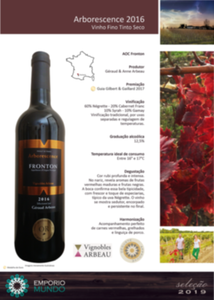 Vignoble Arbeau - Arborescence Rouge 201