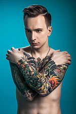 Tattoed Young Man