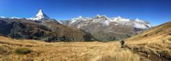 Mountain biking below Matterhorn