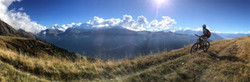 Panoramic biking in Wallis