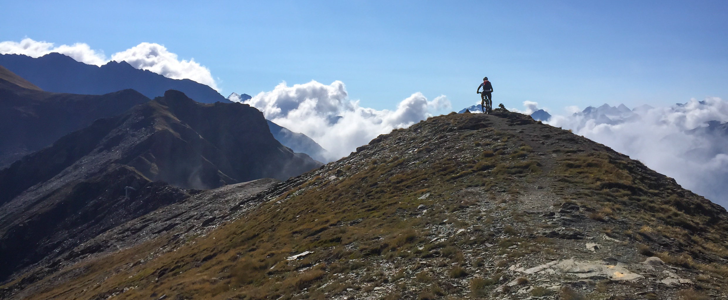 High alpine biking Aosta