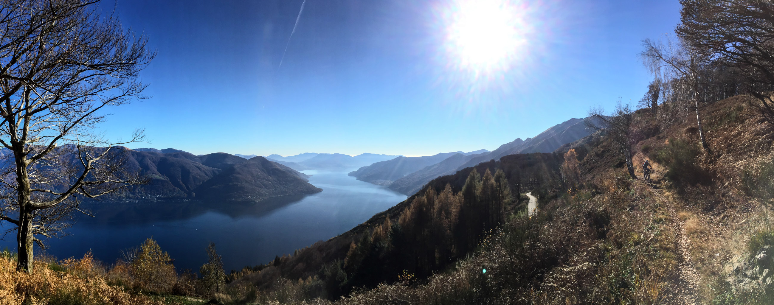 Winter biking at Lago Maggiore