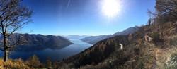 Winter biking at Lago Maggiore