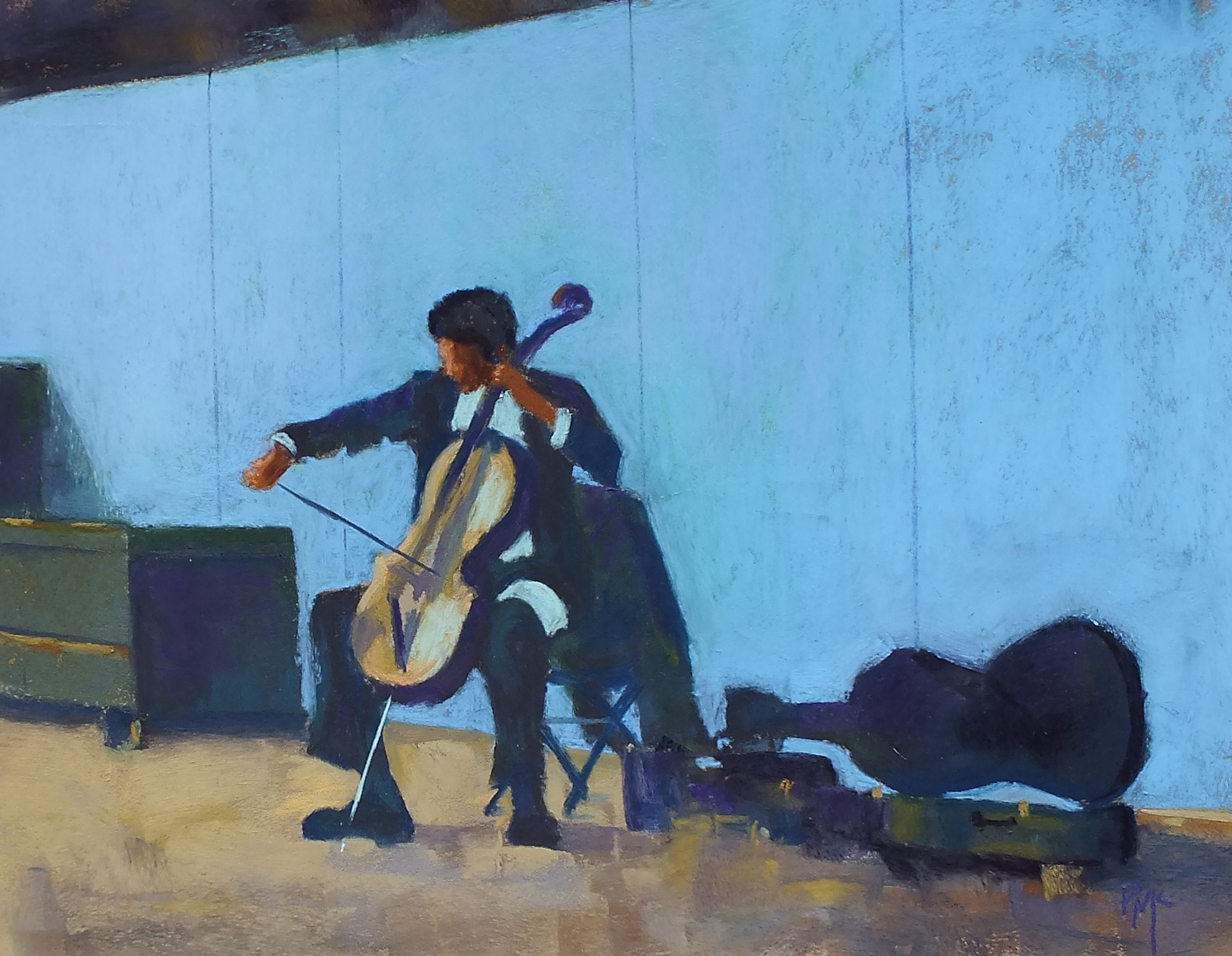 The Cello Player on the Highline
