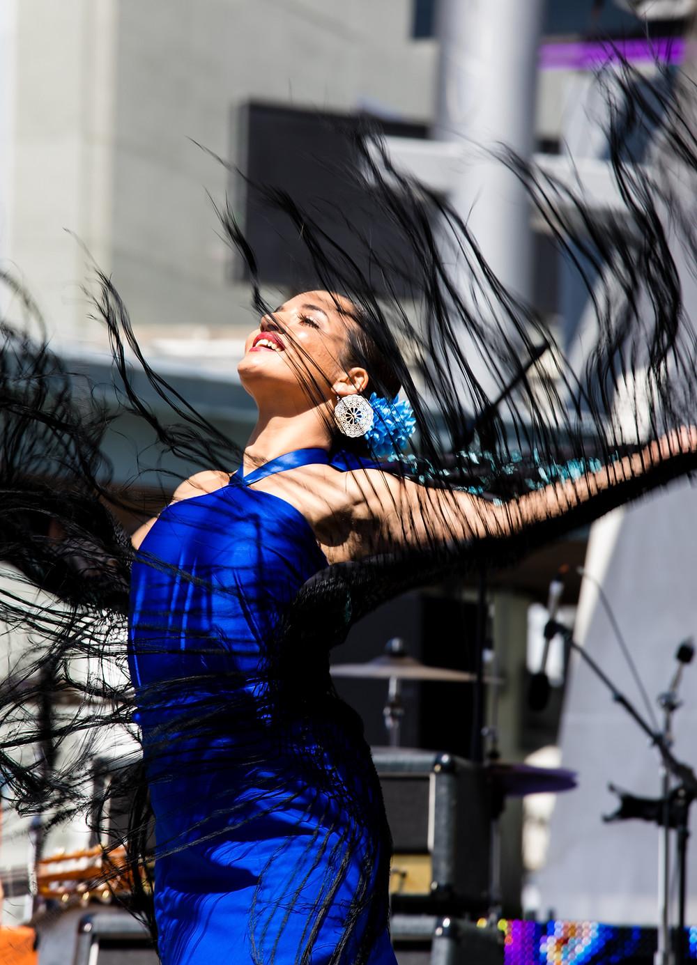 Dancer onstage at desiFEST 2018 in Toronto
