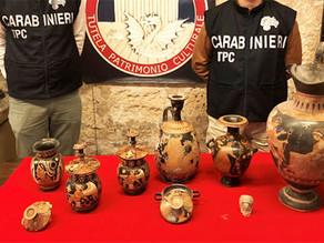 Italia - Rimpatriati dal Belgio quasi 800 reperti archeologici