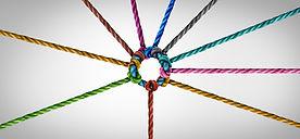 Concept of team unity and teamwork idea