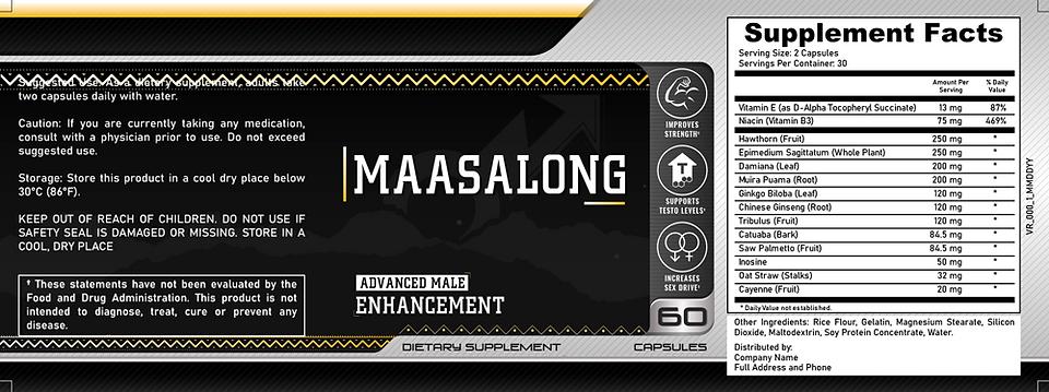 MaasaLong Product Label