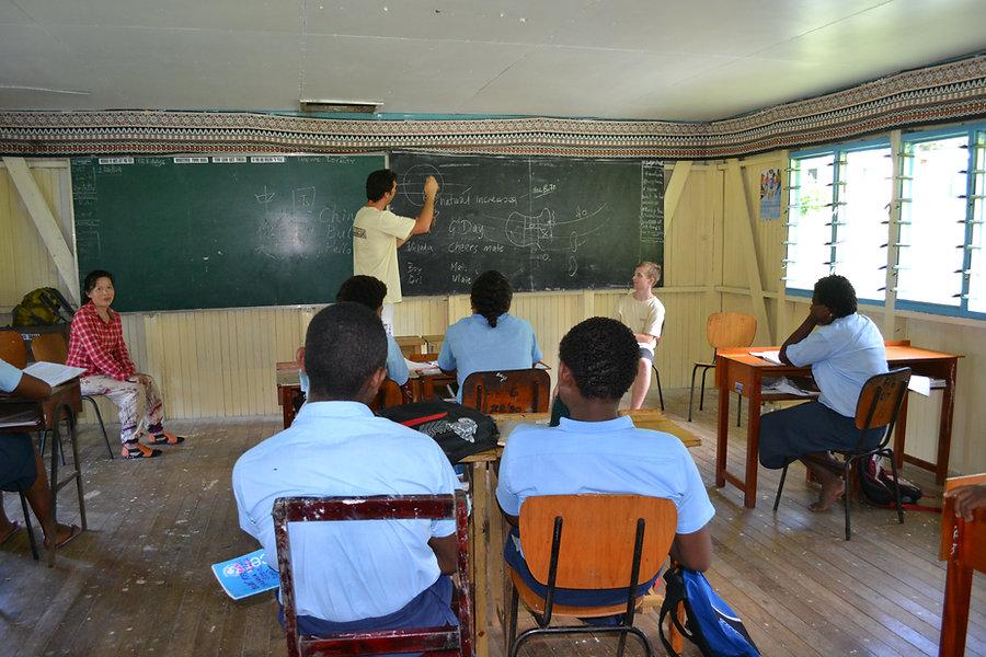 Teaching children - Yasawa Islands