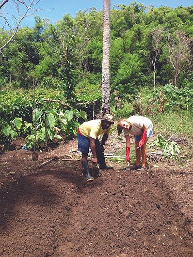 Planting crops with Vinaka Fiji