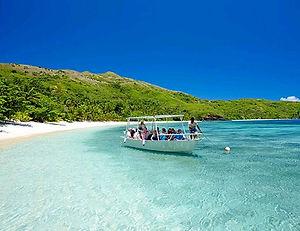 Voluntourism on a tropical island
