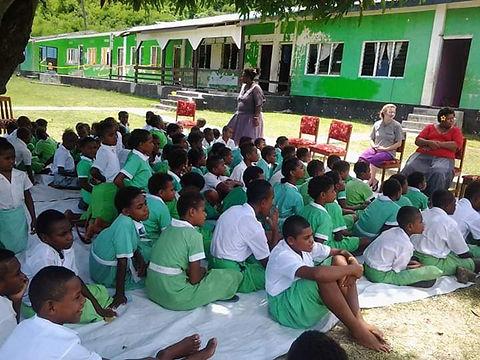 Yasawa Islands school kids