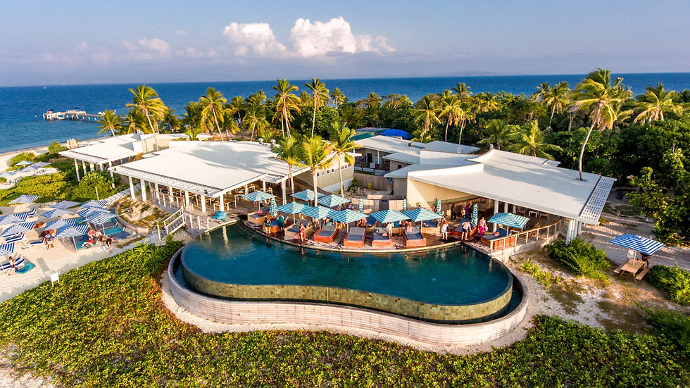 Malamala Beach Club pool and deck area