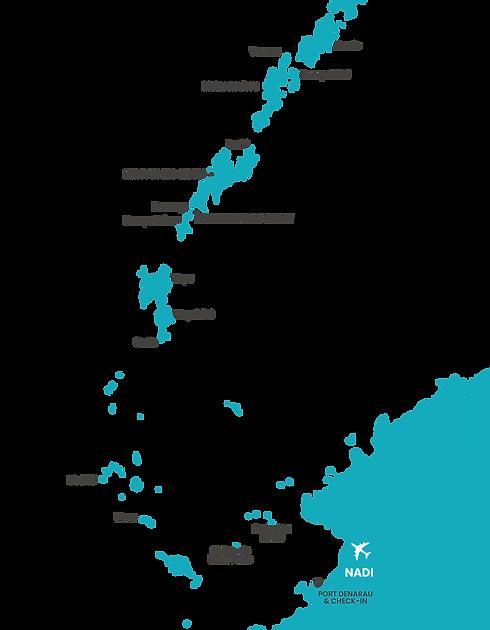 Yasawa Island map Vinaka Fiji