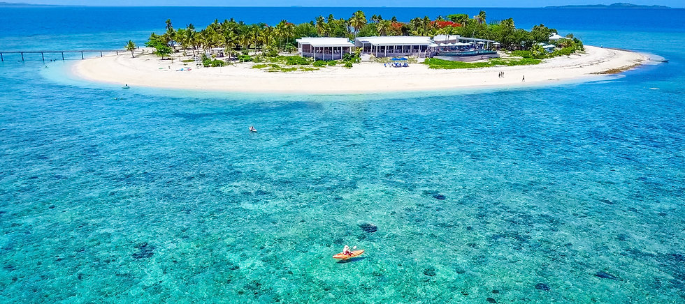 Crystal clear waters of Malamala Beach Club