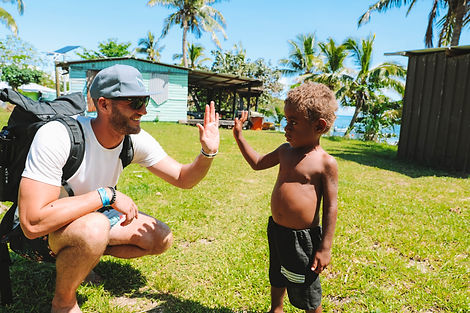 Work with villagers in the Yasawa Islands