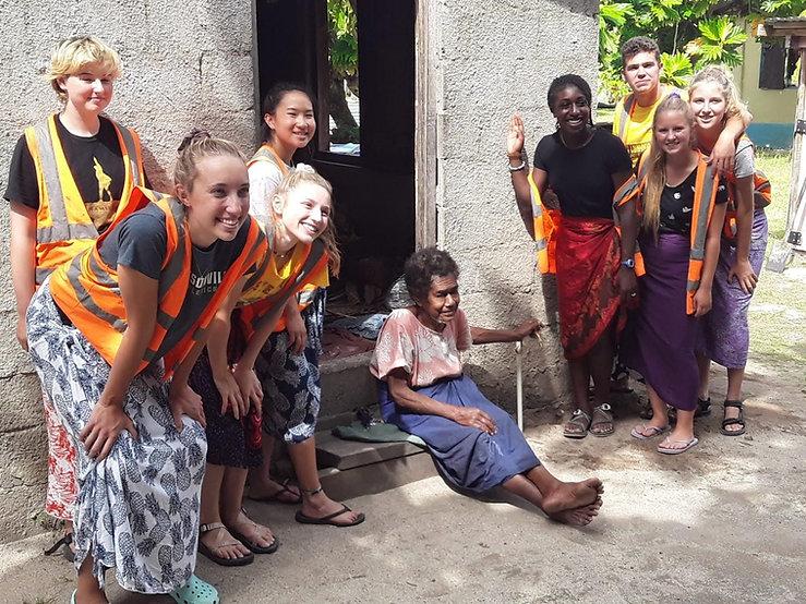 Community voluntourism work in Fiji's Yasawa Islands