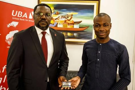 Mr. Ellis Nzo Asu and Mr. Vital Sounouvou launching XportCARD