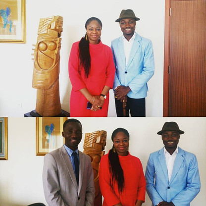Working session with Mrs. Cina Lawson Minister of Digital Economy of Togo