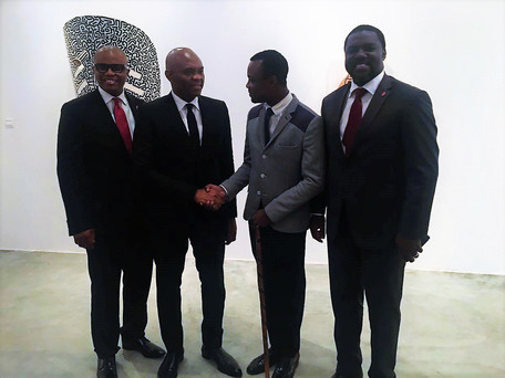 Mr. Tony Elumelu Chaiman of UBA PLC, Mr. Ellis Nzo Asu and Mr. Vital Sounouvou