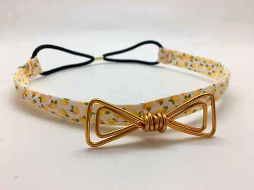 Headband citron et or