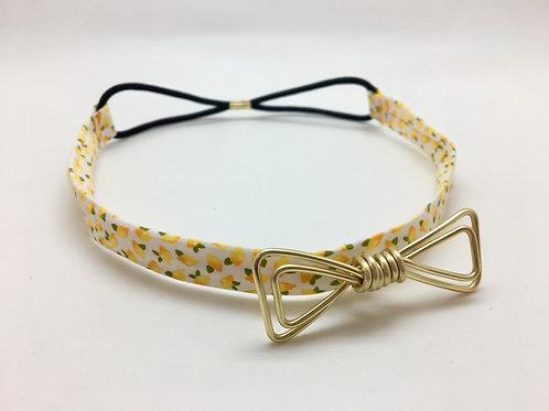 Headband citron et doré