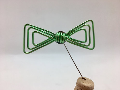 Broche classique verte