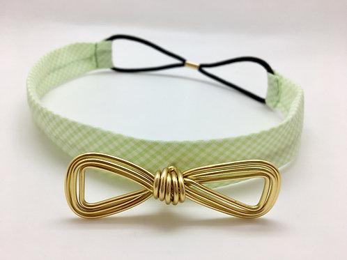 Headband vert et doré