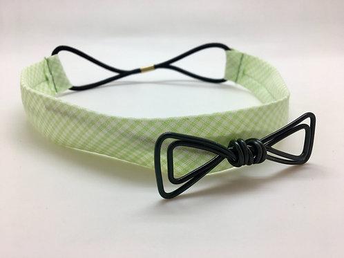 Headband vichy vert et noir