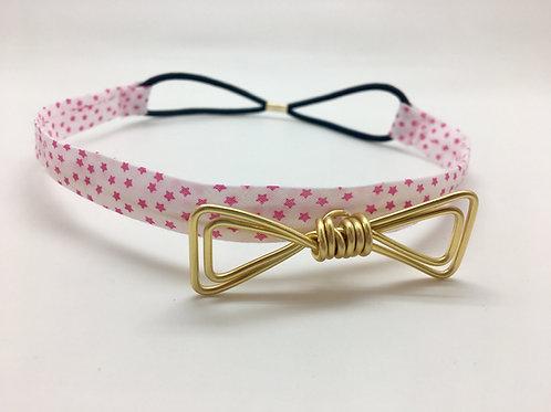 Headband étoilé rose et doré