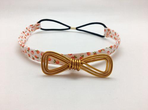 Headband orange et or