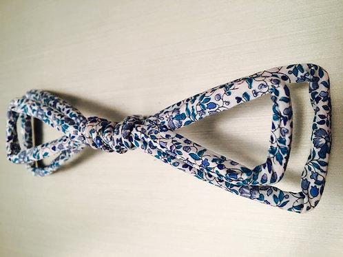 Noeud papillon tissu Liberty bleu