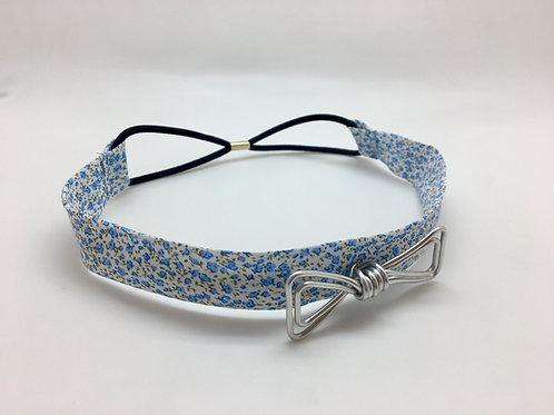 Headband fleuri et gris
