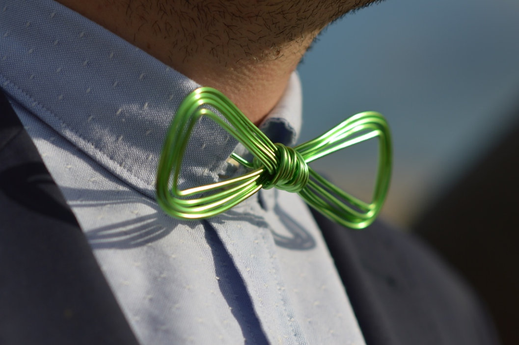noeud papillon vert anis chrysalide