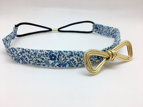 Headband liberty bleu