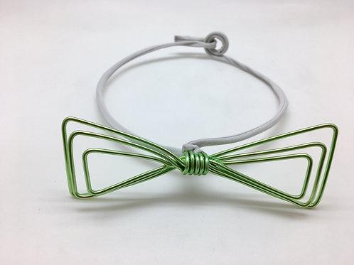Noeud papillon semi habillé classique vert