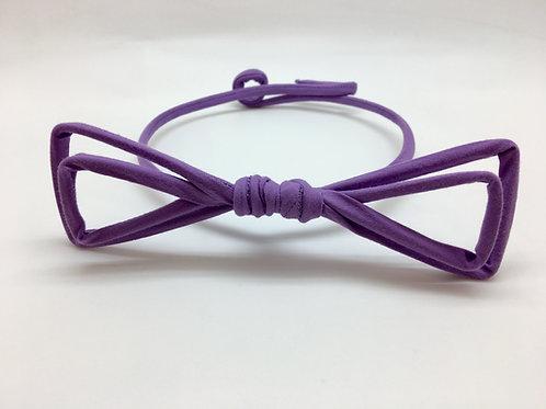 Noeud papillon tissu violet uni