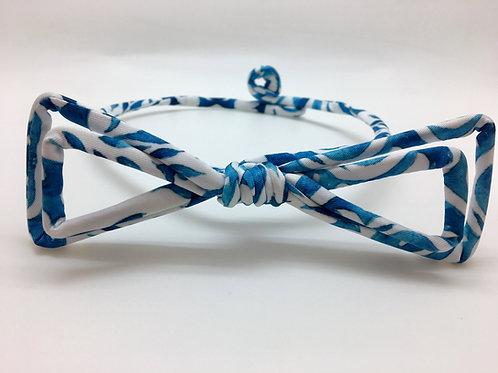 Noeud papillon Janfive Studio - Blanc & bleu