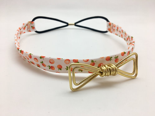 Headband orange et doré