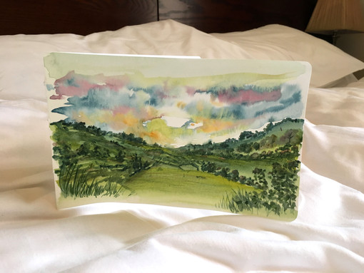 Watercolour in Ruthin