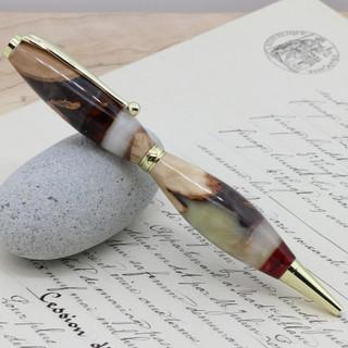 手作りボールペン♪カテドラルブラウンFLG001.JPG