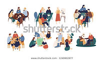 collection-funny-smiling-people-sitting-