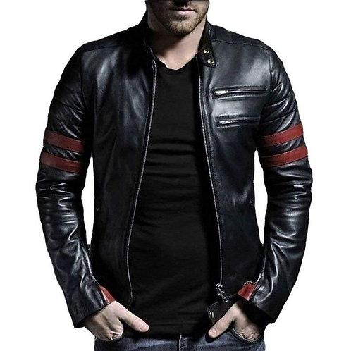 Faux Leather Stylish Mens Jacket C661687