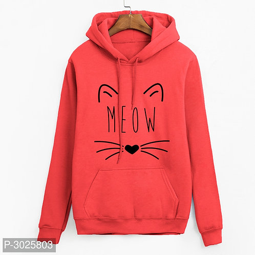 Women'S Fleece Printed Sweatshirt Hoodie