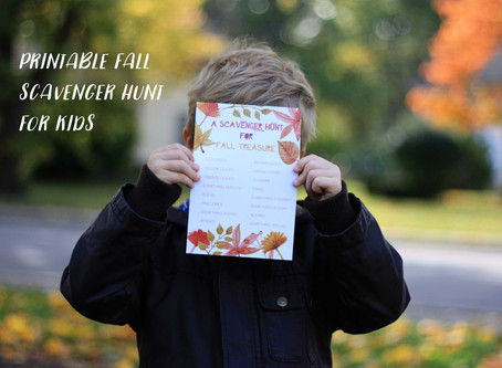 Fall Scavenger Hunt + Free Printable