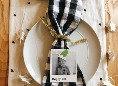 Personalized Placecards with Polaroid